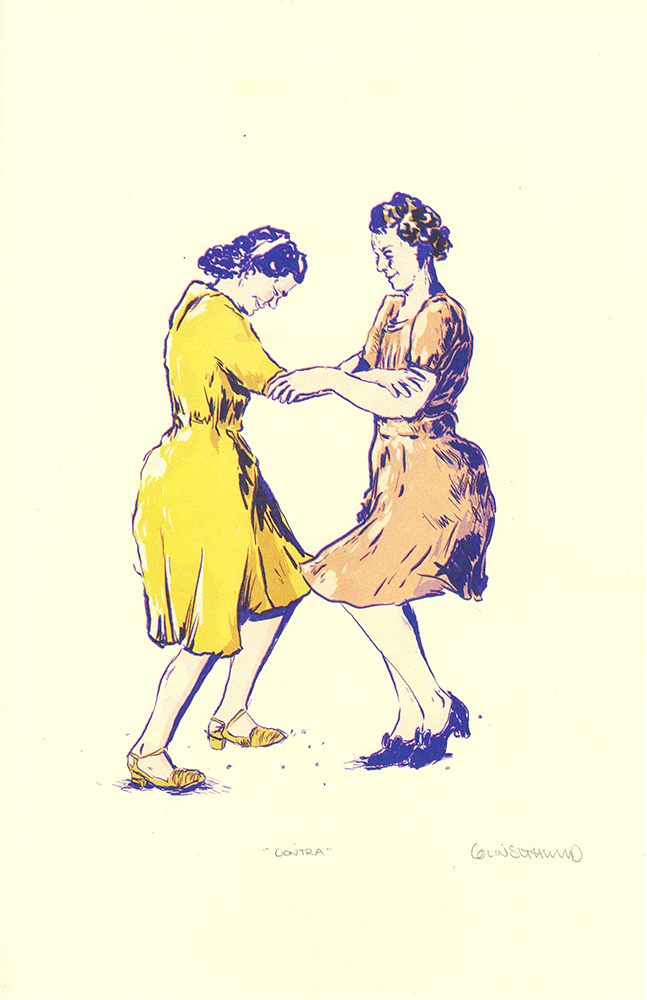 print of women dancing